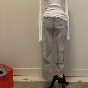 Gold sign jeans. Gray. 27